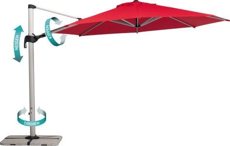 ampelschirm barbados 350cm rund. Black Bedroom Furniture Sets. Home Design Ideas